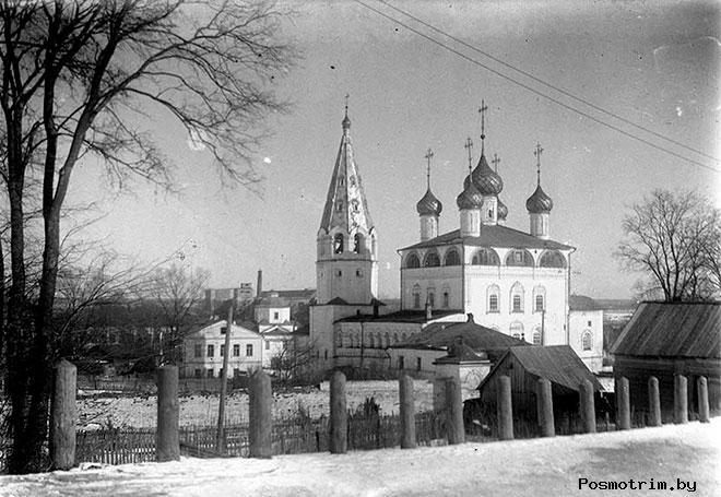 Строительство Благовещенского монастыря в Вязниках