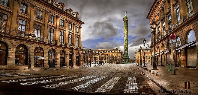 Вандомская площадь в Париже сегодня
