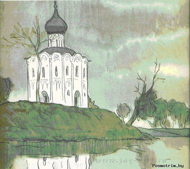 Церковь Покрова на Нерли стоит на рукотворном холме