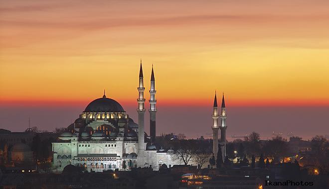 Строительство Мечети султана Сулеймана в Стамбуле