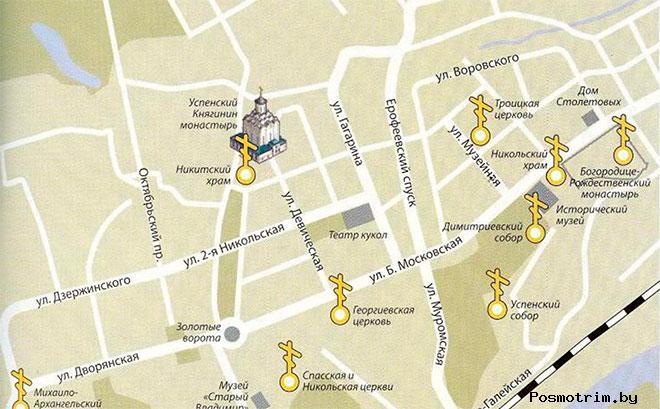 Княгинин монастырь Владимир богослужения контакты как добраться расположение на карте