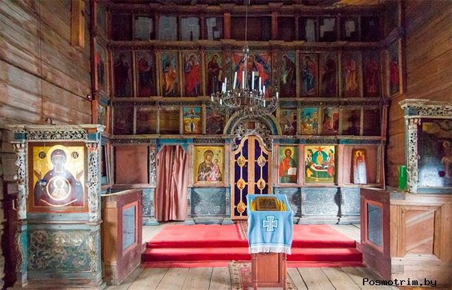 Интерьер Успенской церкви в Кондопоге