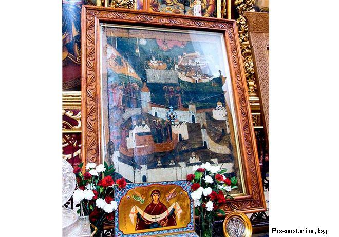 Псковская икона Божией Матери - икона «Явление Божией Матери старцу Дорофею»