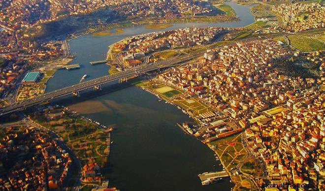 Бухта Золотой Рог в Стамбуле Турция