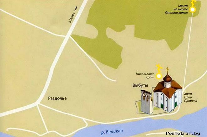 Церковь в Выбутах расписание богослужений контакты как добраться расположение на карте