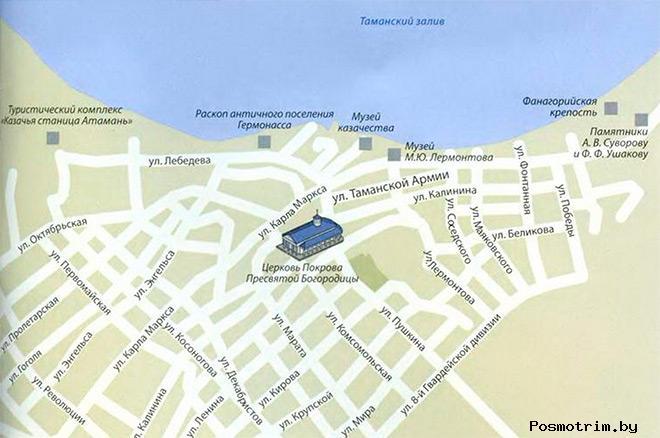 Покровский храм Тамани богослужения контакты как добраться расположение на карте