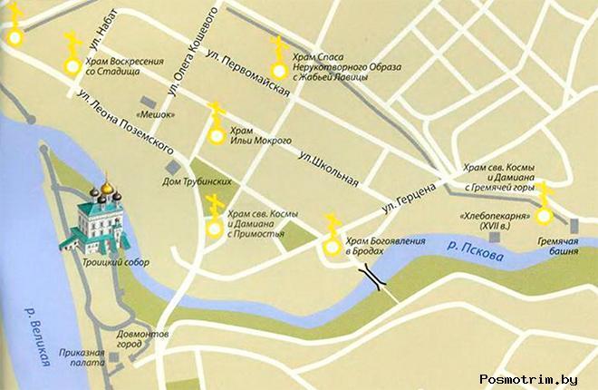 Свято-Троицкий Кафедральный собор Пскова расписание богослужений контакты как добраться расположение на карте