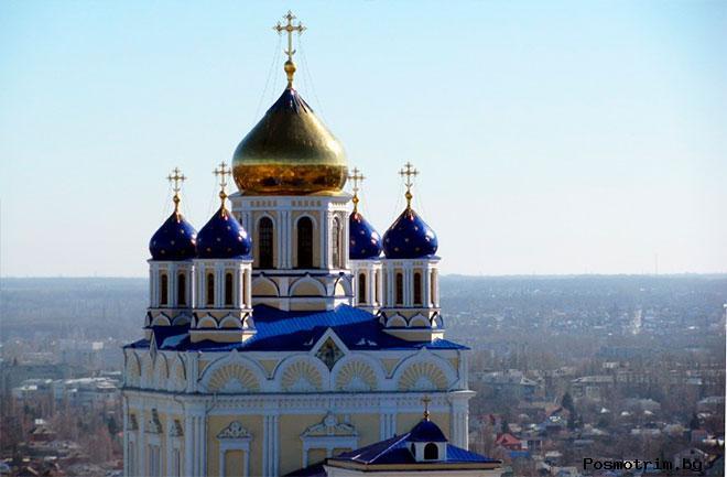 Строительство Вознесенского собора в Ельце