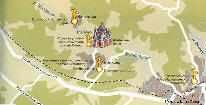 Казанский храм Глебово богослужения контакты как добраться расположение на карте