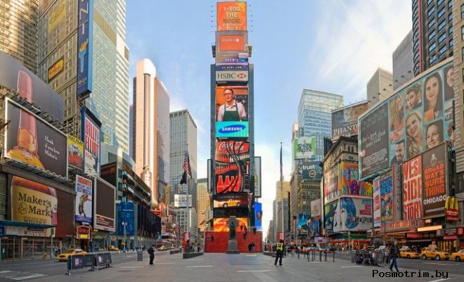 Площадь Таймс-Сквер Нью-Йорк