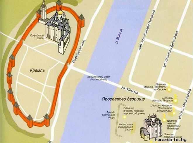 Никольский собор Новгорода график работы адрес как добраться самостоятельно расположение на карте Новгорода