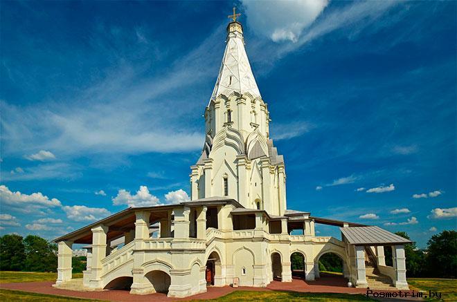 Строительство церкви Вознесения господнего в Коломенском