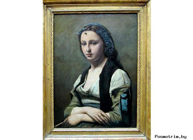 Женщина с жемчугом Жан-Баттист Камиль Коро