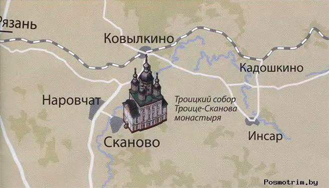 Троице-Сканов монастырь богослужения контакты как добраться расположение на карте