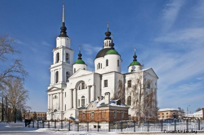 Строительство Троицкого собора Чаплыгина