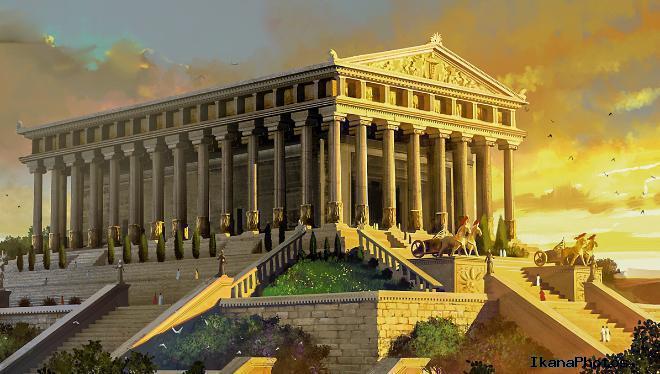 Храм Артемиды в Эфесе одно из семи чудес света