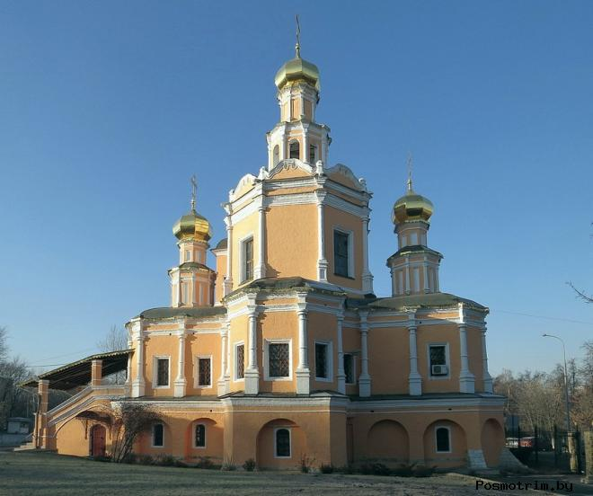 Архитектура храма Бориса и Глеба в Зюзине