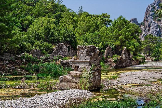Посещение руин города Олимпос