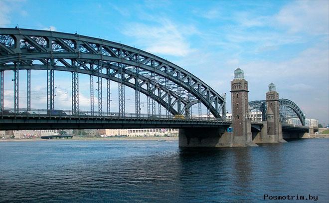 Большеохтинский мост (мост Петра Великого) Санкт-Петербург