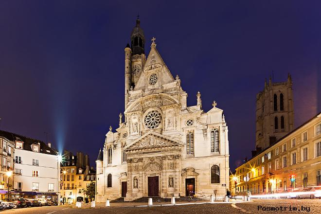 Церковь Сент-Этьенн-дю-Мон Париж (Saint-Étienne-du-Mont)
