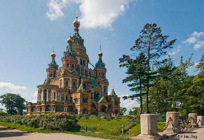 Строительство собора Петра и Павла в Петергофе