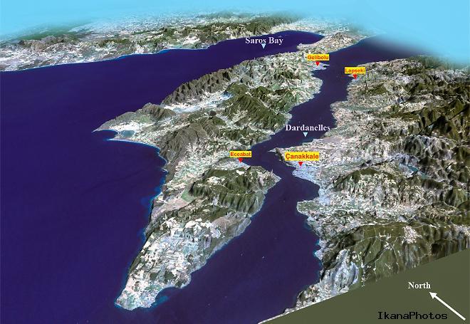 Пролив Дарданеллы - «Море Геллы» (Пролив Босфор и Дарданеллы на карте мира)