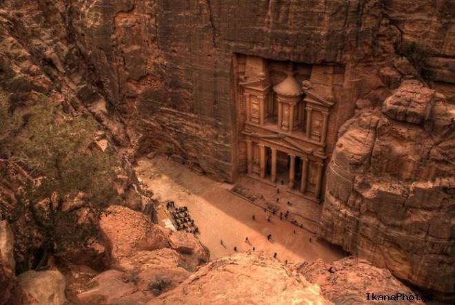 Античный город Петра Иордания город библейского Моисея