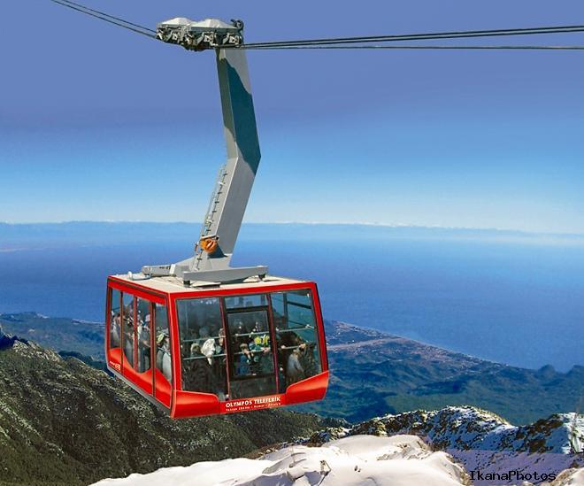 Фуникулёр горы Олимпос-Тахталы подъём на высоту 2365 метров над уровнем моря