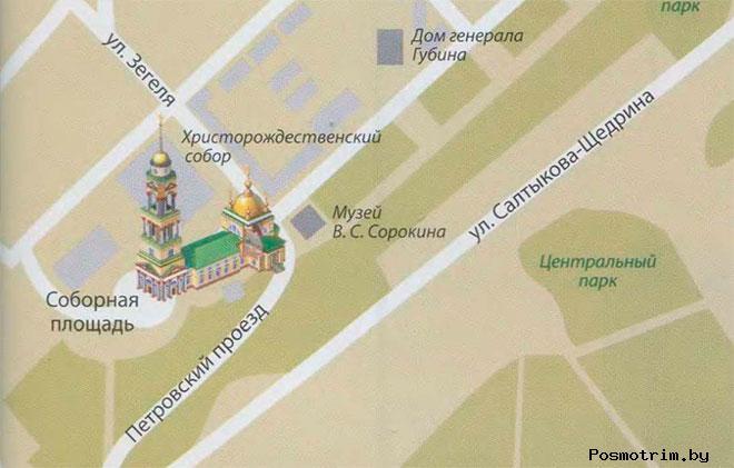 Храм Рождества Христова в Липецке богослужения контакты как добраться расположение на карте