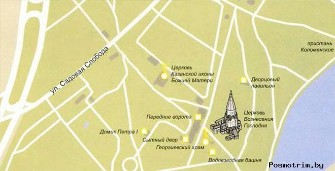 Музей-заповедник «Коломенское» адрес график работы расположение на карте как добраться самостоятельно
