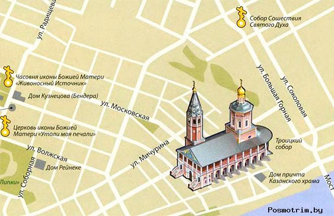 Свято-Троицкий собор Саратова расписание богослужений контакты как добраться расположение на карте