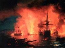Чесменское сражение 1770 года в бухте при Чесме