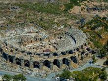 Где находится театр в Сиде как добраться самостоятельно к театру в Сиде расположение на карте Турции