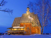 Деревянная Никольская церковь 1766 г.
