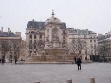 Греческий район Латинского квартала в Париже