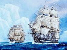 Открытие Антарктиды Беллинсгаузенои и Лазаревым