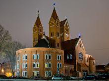 Костел Святых Симеона и Елены история современности расположение на карте Беларуси