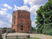 Башня Гедимина Вилюнюс Литва Вильнюсский Верхний замок - Башня Гедемина самая уцелевшая часть замка Гедемина