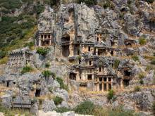 Ликийские скальные гробницы - Мира Ликийская в Турции