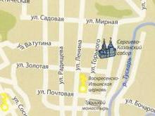 Сергиево-Казанский собор Курска богослужения контакты как добраться расположение на карте