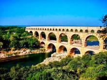 Акведук Пон-дю-Гар Франция (Гарский мост)