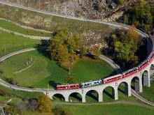 Ледниковый Экспресс и Ретийская железная дорога Швейцария