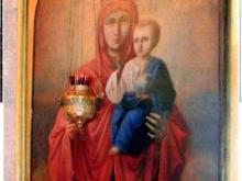 Икона «Всех скорбящих Радость» Рождественская церковь Новгород
