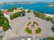 Севастополь Площадь Нахимова памятник адмиралу Нахимову и Графская пристань