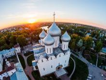 Необычная пространственная ориентация Софийского соборав Вологде