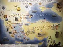 Фракия и Мраморное море на карте Турции