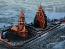Строительство ансамбля Кижского погоста