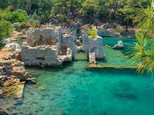 Демре - Мира - Кекова затонувшие города острова Кекова в Турции