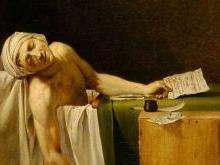Смерть Марата Французская революция