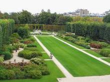 Первая часть музея Родена - парк.